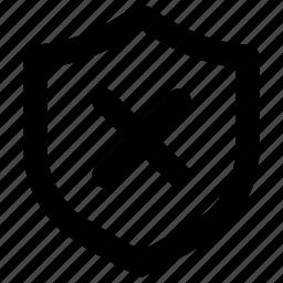 access, block, deny, protect, shield icon
