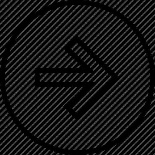 arrow, menu, nav, navigation, point, right icon