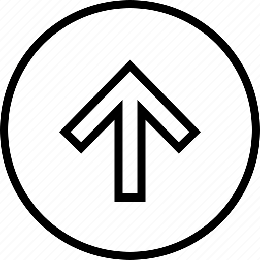 arrow, menu, nav, navigation, point, up icon