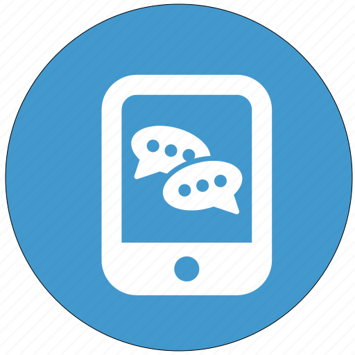 chat, communication, online, smartphone, talk icon