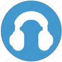 headphone, headset, listen, listening, receiver icon