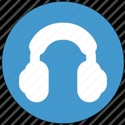 headphone, headset, listen, listening, receiver icon