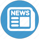 daily, journal, news, newspaper icon