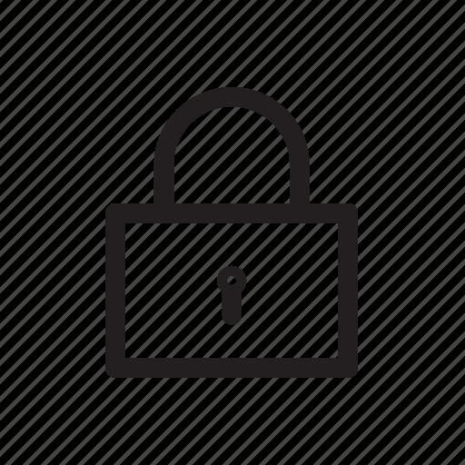 block, lock, padlock, player, secure, security, video icon