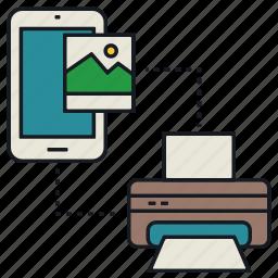 image, media, mobile, print, share icon