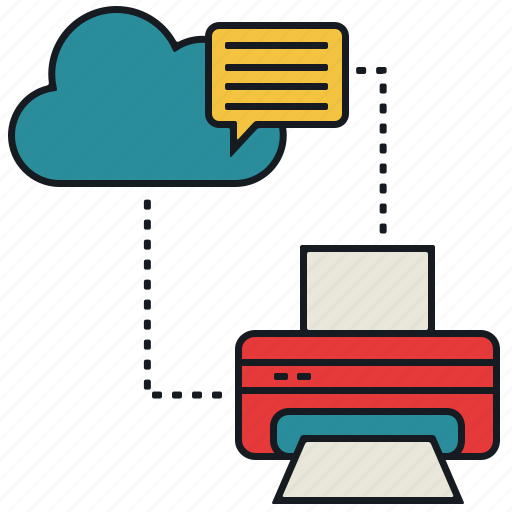 cloud, media, message, print, share icon