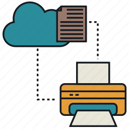 cloud, document, media, print, share icon