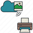 cloud, media, print, share, wireless, image