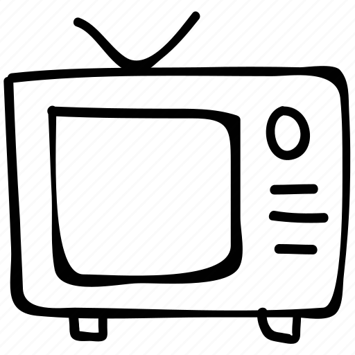 channel, television, television with antenna, tv icon