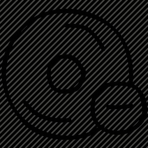 cd, delete, dve, error icon