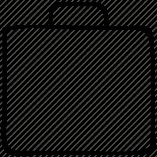briefcase, business, plain briefcase, work briefcase icon