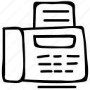 fax, fax communication machine, fax machine, fax phone icon