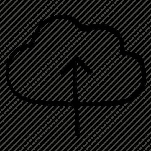 cloud network, up arrow, uploading, uploading data icon