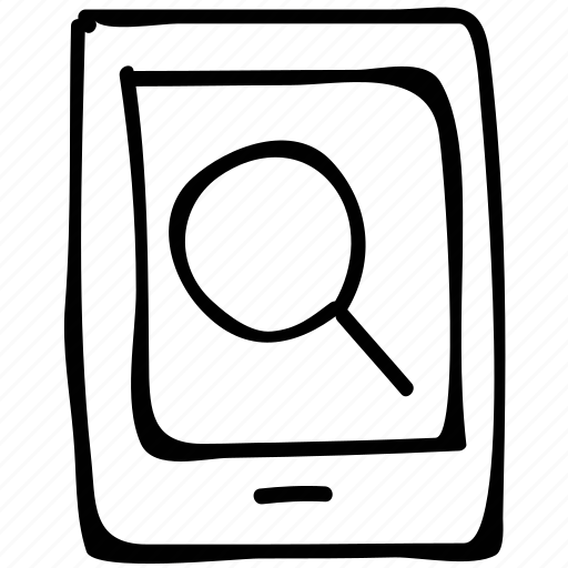 magnifier, searching, searching by phone, tablet icon