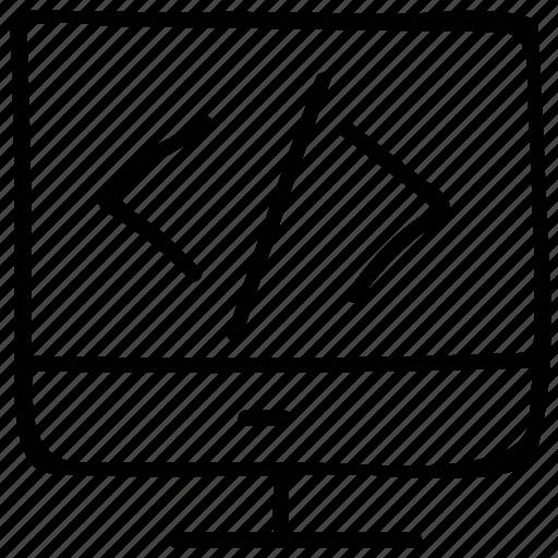 html, html coding, language html, programming sign icon
