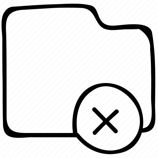 cancel folder, delete folder, folder, remove folder icon