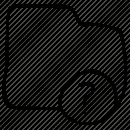 folder, question mark, unchecked folder, unknown folder icon