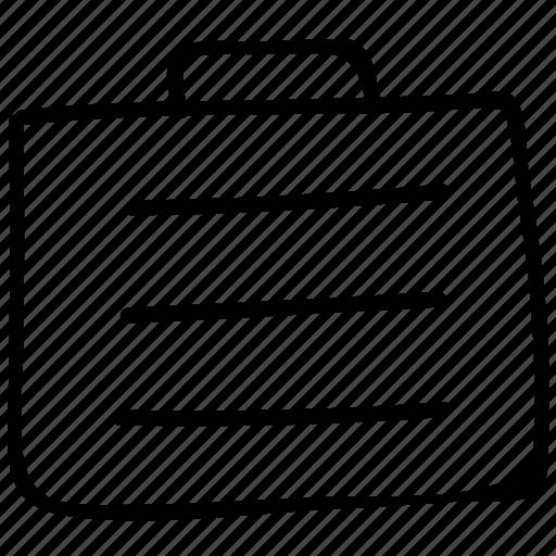 briefcase, metal suitcase, suitcase, work briefcase icon