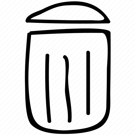 bin, recycle bin, trash can, trash container icon