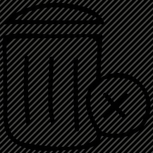 bin, delete, recycle bin, trash container icon
