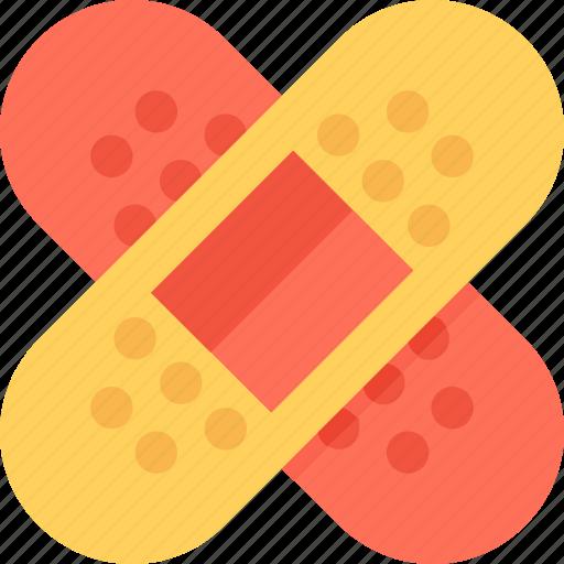 band aid, bandage, first aid, injury, plaster icon