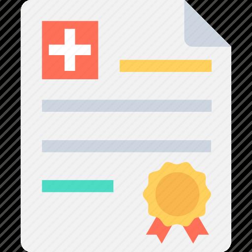 doctor degree, doctor licence, medical license, medical report, prescription icon