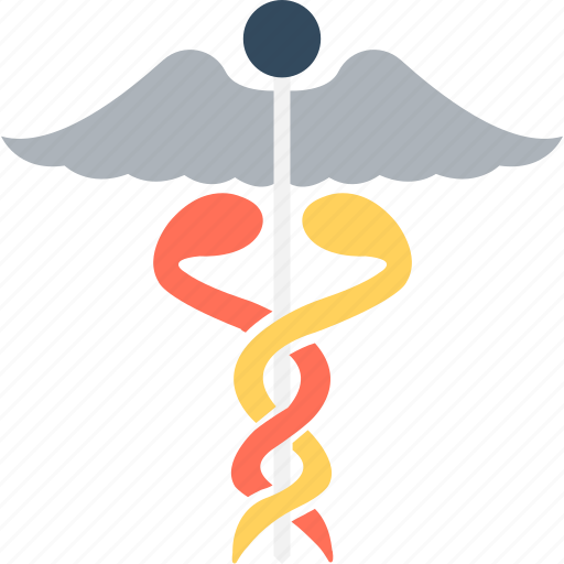 caduceus, medical logo, medical sign, rod of asclepius, symbol of hermes icon