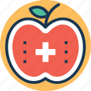 apple, balanced diet, healthy diet, healthy eating, nutritious icon