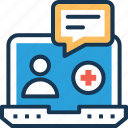 chat bubble, health advice, health forum, medical consultation, medical forum icon