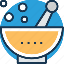 medicine bowl, mortar, pestle, pharmacist, pharmacy tool icon