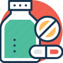 antibiotic, medical treatment, medicine jar, pill bottle, prescription drug icon