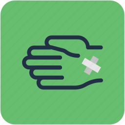 bandage, finger bandage, finger injury, hurted finger, medical dressing icon