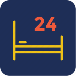hospital bed, medical emergency, medical rescue, patient bed, twenty four hours icon