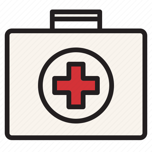 aid, first, health, hospital, kit, medical, sign icon