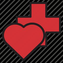 health, heart, hospital, medical, sign icon