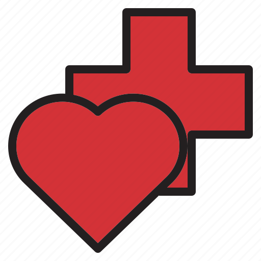 health, heart, hospital, medical, sign icon