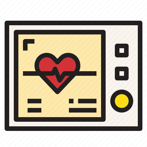 echo, health, heart, hospital, medical, rate, sign icon