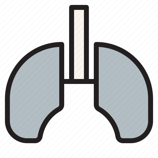 health, hospital, lung, medical, sign icon