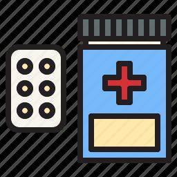 health, hospital, medical, pills, sign icon