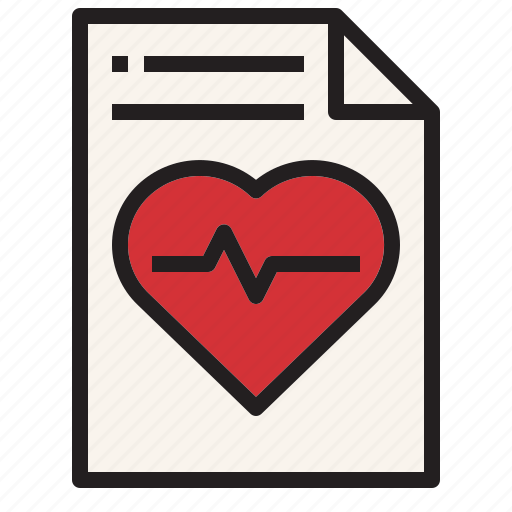 health, hospital, medical, report, sign icon