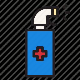 health, hospital, medical, sign, spray icon