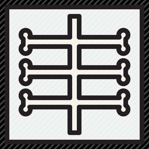 health, hospital, medical, ray, sign, x icon
