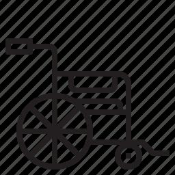 chair, health, hospital, medical, sign, wheel icon