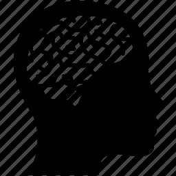 brain, ct, head, medical, mind, scan, x-ray icon