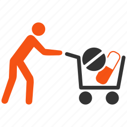 add, bag, basket, business, buy, cart, delivery, drugstore, health, loader, medical, order, pharmacy, purchase, sale, shipment, shop, shopping, shopping cart, store, wholesale icon