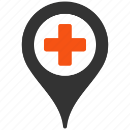 aid, ambulance, base, care, clinic, cross, direction, doctor, drug, emergency, first, flag, health, healthcare, heart, help, hospital, label, location, map, mark, marker, medical, medicine, needle, nurse, pharmacy, pin, place, plus, point, pointer, position, tag, target, warning icon