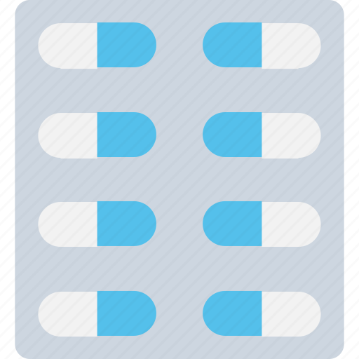 capsule, drugs, medication, pills, pills strip icon