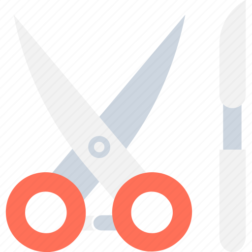 cutting tools, medical tool, scalpel, scissor, surgery icon