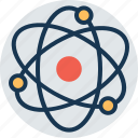 atom, electron, molecule, physics, science icon