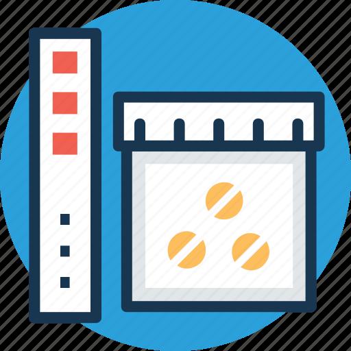 antibiotic, medical treatment, medicine jar, pill bottle, prescription drug icon